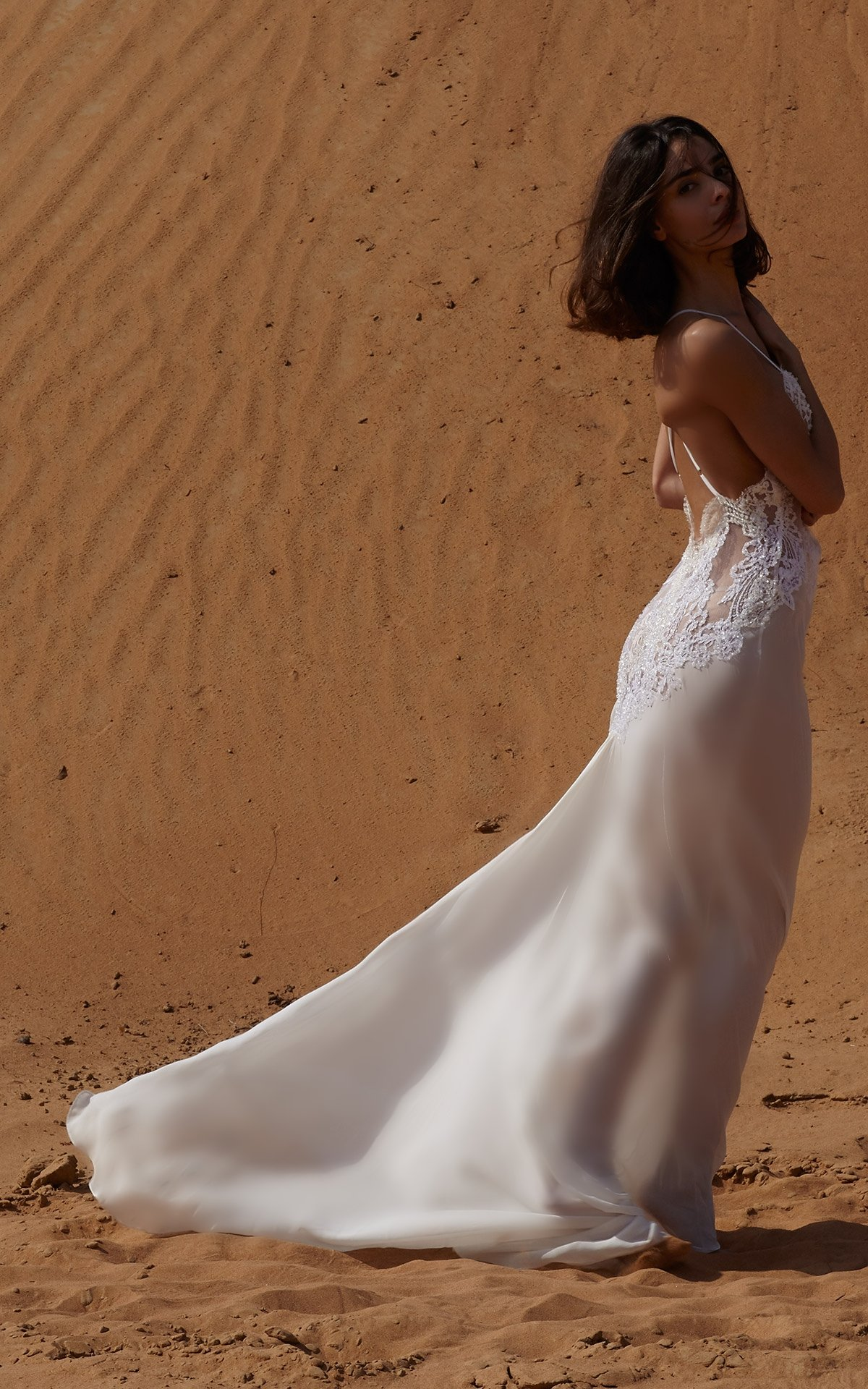 ROSAMOSARIO_A-princess-called-Meera_Fattima-the-young-bride_Embroidered-lace-_-chiffon-tail-dress_White_2